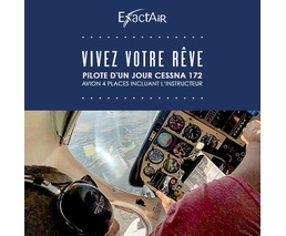 Pilote d'un jour Cessna 172, avion 4 places incluant l'instructeur