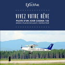 Pilote d'un jour Cessna 152, avion 2 places incluant l'instructeur