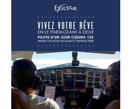 Pilote d'un jour Cessna 152, avion 2 places incluant l'instructeur, formule double