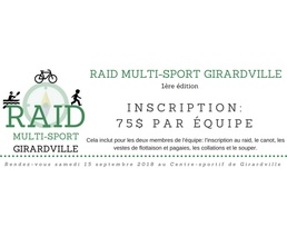 Inscription Raid multi-sport Girardville - édition 2018 -