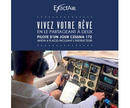 Pilote d'un jour Cessna 172, avion 4 places incluant l'instructeur, formule double
