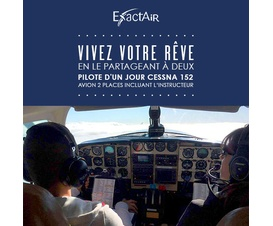 Pilote d'un jour Cessna 152, avion 2 places incluant l'instructeur formule double